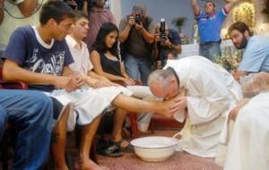 lavar los pies a una musulmana